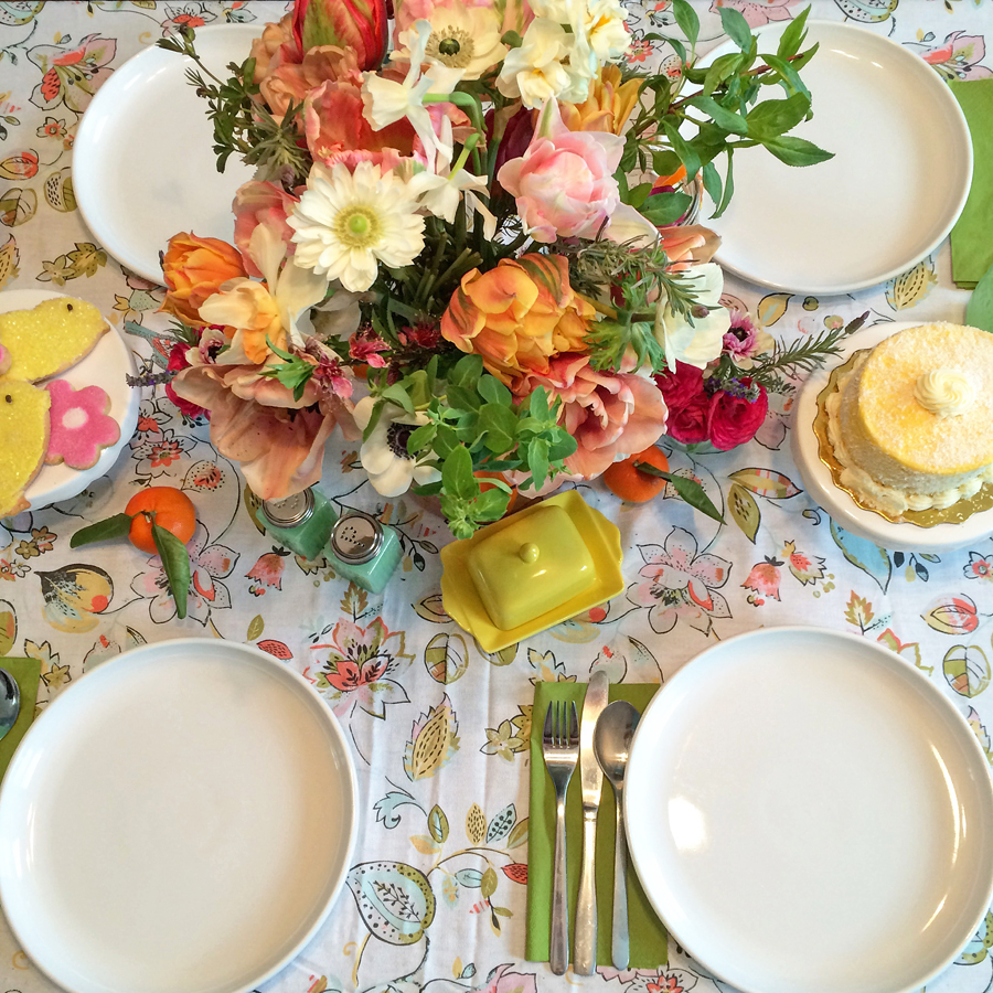 A Floral Easter Brunch